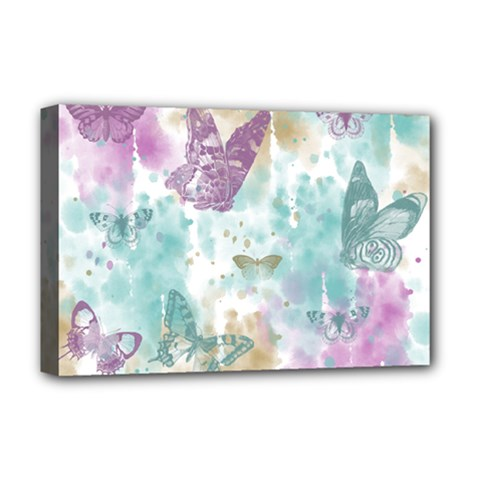 Joy Butterflies Deluxe Canvas 18  X 12  (framed) by zenandchic