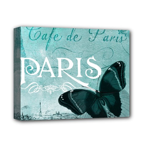 Paris Butterfly Deluxe Canvas 14  X 11  (framed) by zenandchic