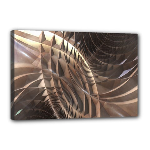 Abstract Copper Metallic Texture Canvas 18  x 12  (Stretched) by CrypticFragmentsDesign