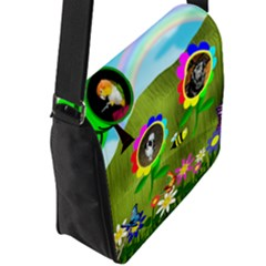 Flap Closure Messenger Bag (L)