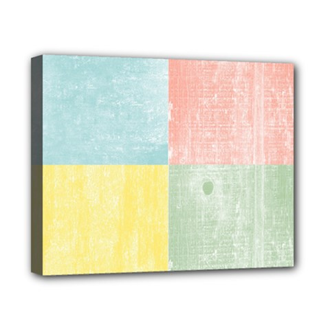 Pastel Textured Squares Canvas 10  X 8  (framed) by StuffOrSomething