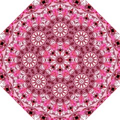 Twirling Pink, Abstract Candy Lace Jewels Mandala  Hook Handle Umbrella (large) by DianeClancy