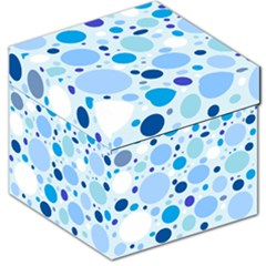Bubbly Blue Dots Storage Stool 12  by StuffOrSomething