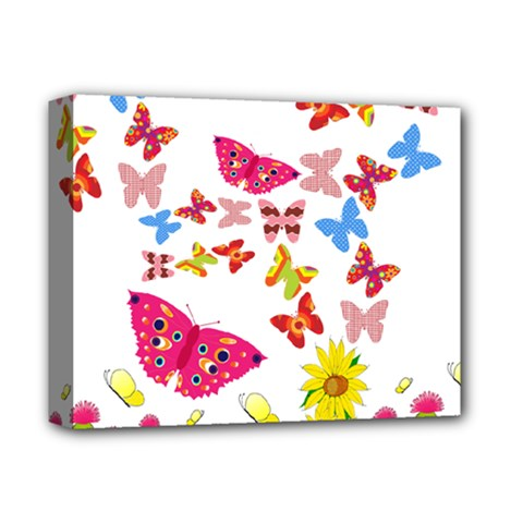 Butterfly Beauty Deluxe Canvas 14  X 11  (framed) by StuffOrSomething