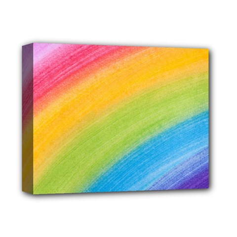 Acrylic Rainbow Deluxe Canvas 14  X 11  (framed) by StuffOrSomething