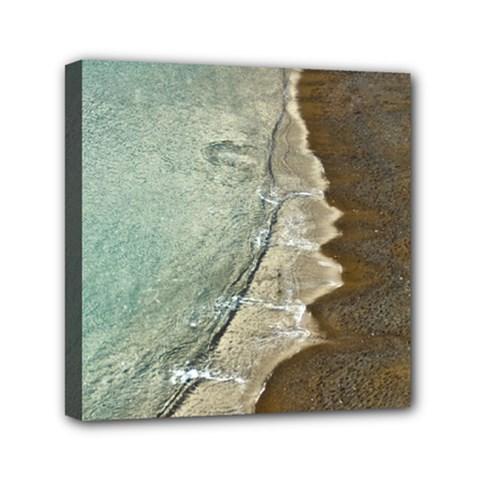 Wawe2 Mini Canvas 6  X 6  (framed) by NoemiDesign