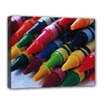 CRAYONS - Canvas 14  x 11  (Stretched)