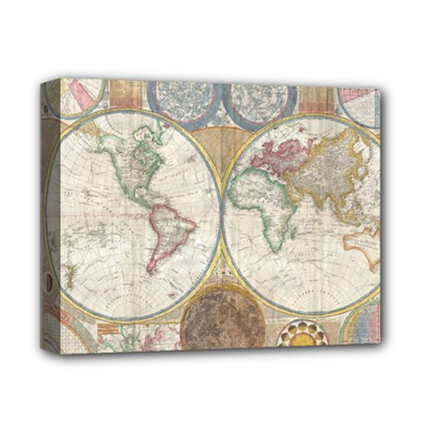1794 World Map Deluxe Canvas 14  X 11  (framed) by StuffOrSomething