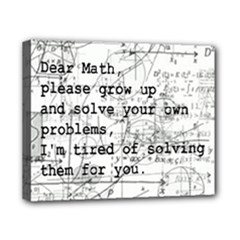 Math Grow up - Canvas 10  x 8  (Stretched)