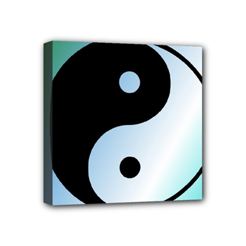 Ying Yang  Mini Canvas 4  X 4  (framed) by Siebenhuehner