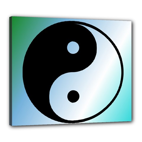 Ying Yang  Canvas 24  X 20  (framed) by Siebenhuehner