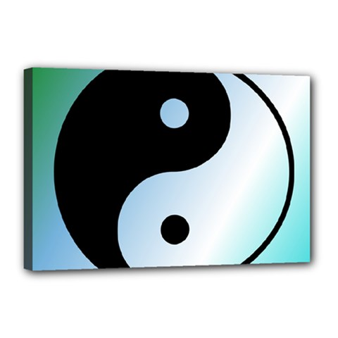 Ying Yang  Canvas 18  X 12  (framed) by Siebenhuehner