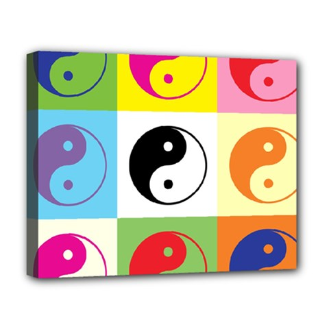 Ying Yang   Deluxe Canvas 20  X 16  (framed) by Siebenhuehner