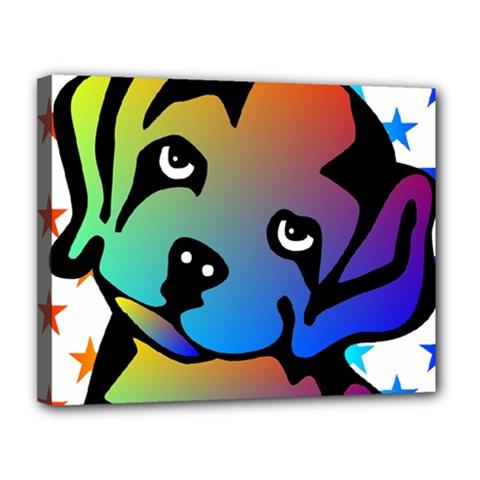 Dog Canvas 14  x 11  (Framed) by Siebenhuehner