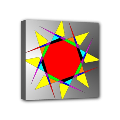 Star Mini Canvas 4  X 4  (framed) by Siebenhuehner