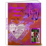 Lavender Love Notes 8x10 Delux album - 8x10 Deluxe Photo Book (20 pages)