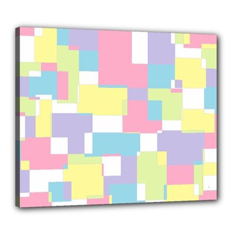 Mod Pastel Geometric Canvas 24  X 20  (framed) by StuffOrSomething