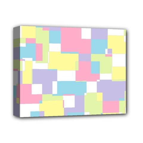 Mod Pastel Geometric Deluxe Canvas 14  X 11  (framed) by StuffOrSomething