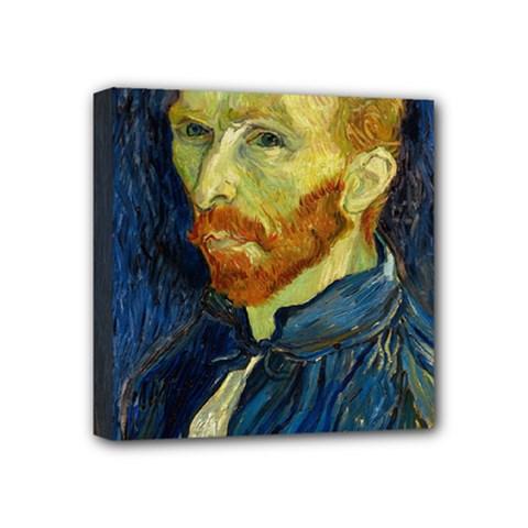 Vincent Van Gogh Self Portrait With Palette Mini Canvas 4  X 4  (framed) by MasterpiecesOfArt