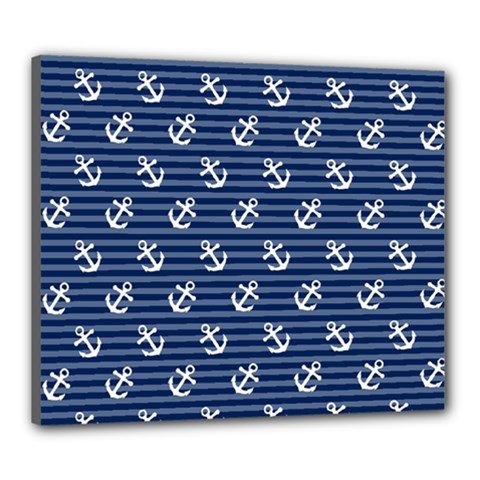 Boat Anchors Canvas 24  X 20  (framed) by StuffOrSomething