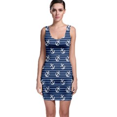 Tilted Anchors Bodycon Dress by StuffOrSomething