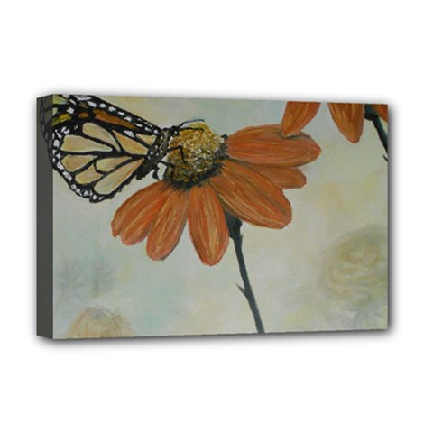 Monarch Deluxe Canvas 18  X 12  (framed)
