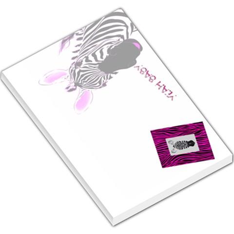 Pink Zebra Memo Pad By Charley Heselti   Large Memo Pads   38eer0e9g0n1   Www Artscow Com