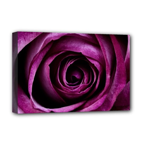 Deep Purple Rose Deluxe Canvas 18  X 12  (framed) by Colorfulart23