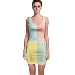 Pastel Woodgrain Bodycon Dress by StuffOrSomething