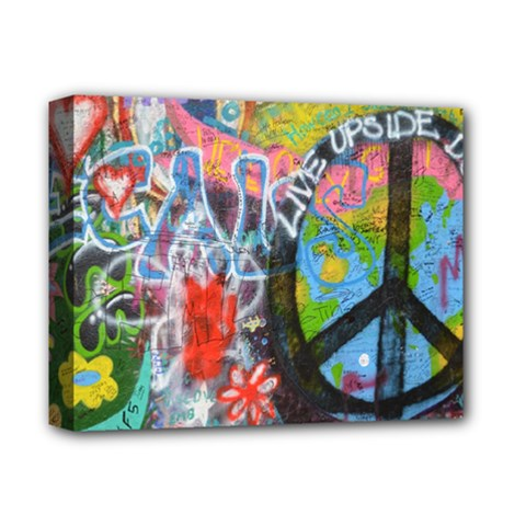 Prague Graffiti Deluxe Canvas 14  X 11  (framed) by StuffOrSomething