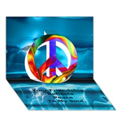Repatch Your Friendship Reflects Peace To My Soul Peace Sign 3d Greeting Card (7x5) by saprillika