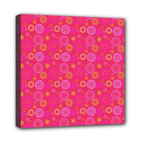 Psychedelic Kaleidoscope Mini Canvas 8  X 8  (framed) by StuffOrSomething