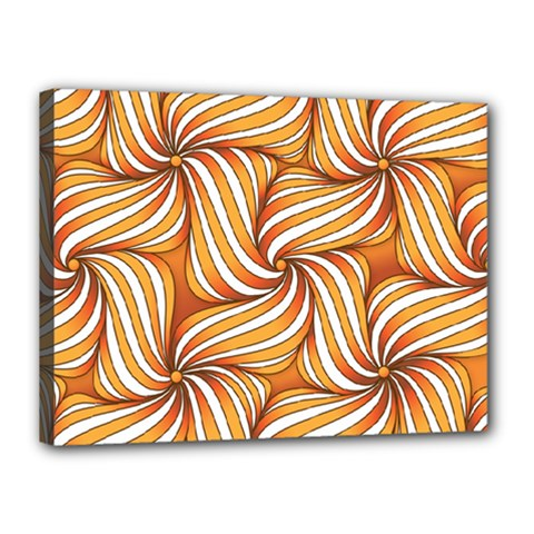 Sunny Organic Pinwheel Canvas 16  x 12  (Framed) by Zandiepants