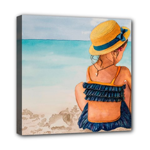 A Day At The Beach Mini Canvas 8  X 8  (framed) by TonyaButcher