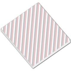 Diagonal Patriot Stripes Small Memo Pad by StuffOrSomething