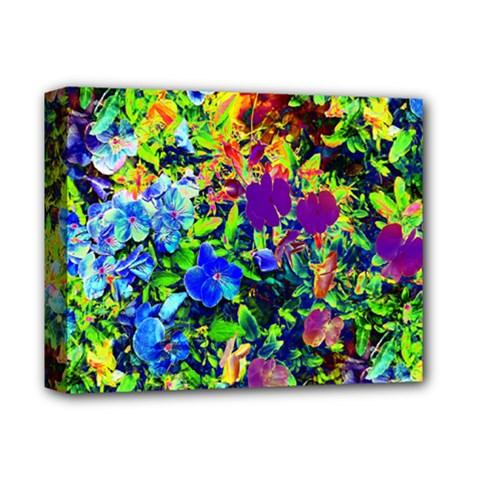 The Neon Garden Deluxe Canvas 14  X 11  (framed) by rokinronda