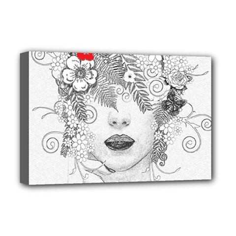 Flower Child Deluxe Canvas 18  X 12  (framed) by StuffOrSomething