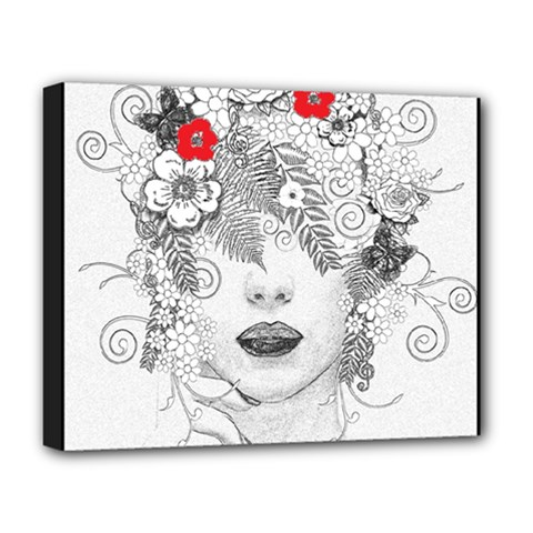 Flower Child Deluxe Canvas 20  X 16  (framed) by StuffOrSomething