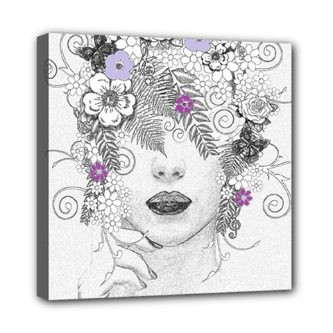 Flower Child Of Hope Mini Canvas 8  X 8  (framed) by FunWithFibro