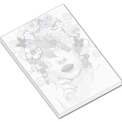 Flower Child Of Hope Large Memo Pad by FunWithFibro
