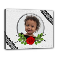 Rose cluster canvas - Canvas 14  x 11  (Stretched)