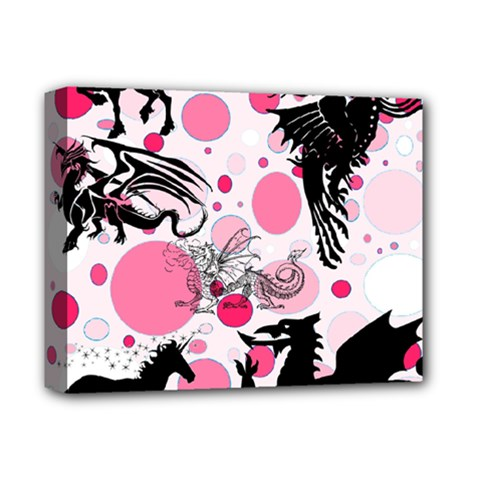 Fantasy In Pink Deluxe Canvas 14  X 11  (framed) by StuffOrSomething