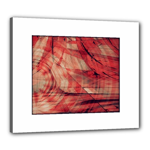 Grey And Red Canvas 24  x 20  (Framed) by Zuzu