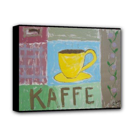 Kaffe Painting Deluxe Canvas 14  X 11  (framed) by StuffOrSomething