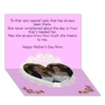 Victorian elegance Heart Mother s Day Card - Heart Bottom 3D Greeting Card (7x5)