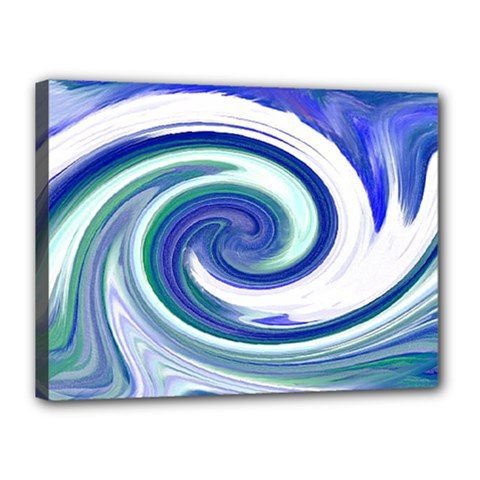 Abstract Waves Canvas 16  X 12  (framed) by Colorfulart23