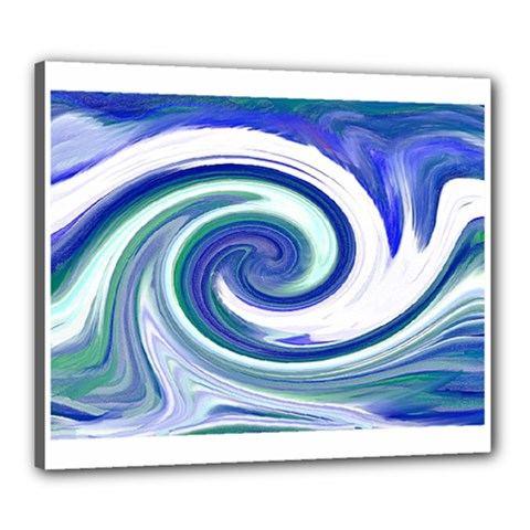 Abstract Waves Canvas 24  X 20  (framed) by Colorfulart23