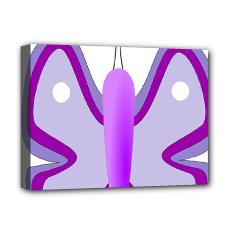 Cute Awareness Butterfly Deluxe Canvas 16  X 12  (framed)  by FunWithFibro