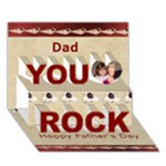 Dad you Rock Shell Father s Day Card - You Rock 3D Greeting Card (7x5)