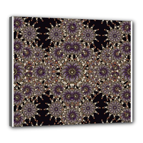 Luxury Ornament Refined Artwork Canvas 24  X 20  (framed) by dflcprints